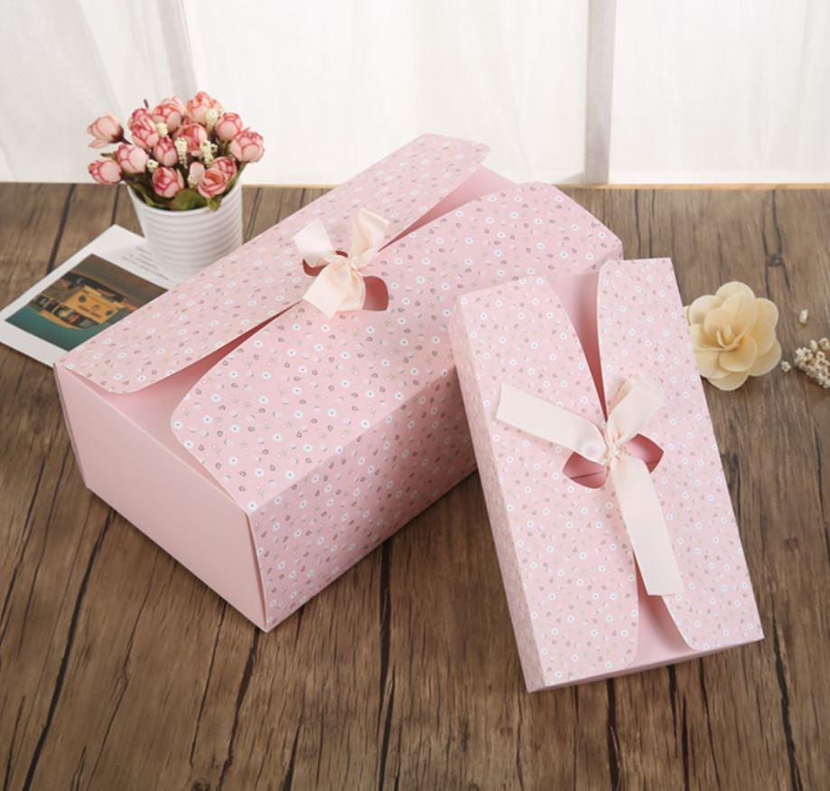 精美紙盒✶碎花粉色♥