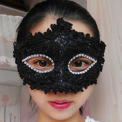 蕾絲派對公主面具(黑色)♥