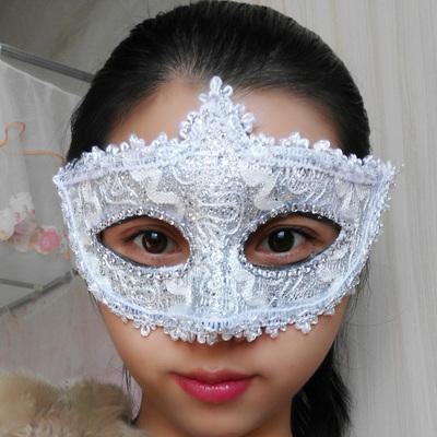 蕾絲派對公主面具(白色)♥