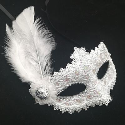 蕾絲派對公主面具(白)♡