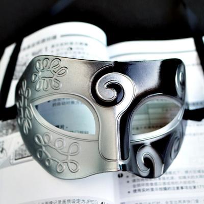 復古派對面具(銀黑色)♥