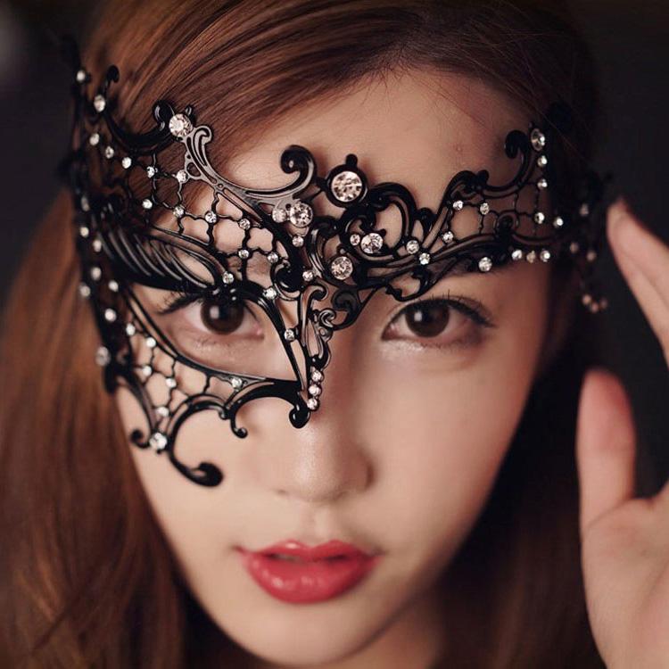 黑色獨眼派對情趣鐵面具♥