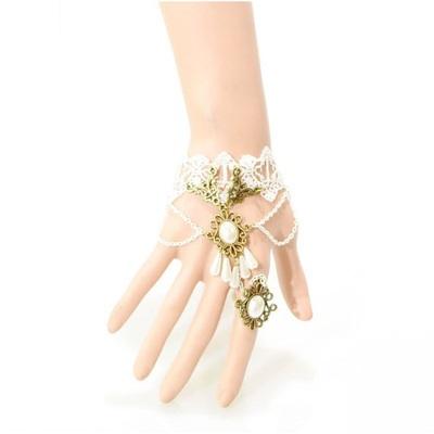 歐美復古白色蕾絲手鍊