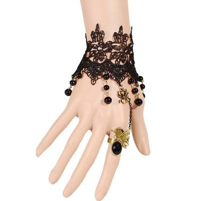 歐美復古黑色蕾絲手鍊