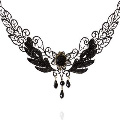 歐美復古黑色蕾絲項鍊