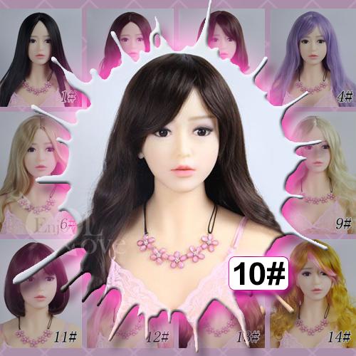 1:1實體娃娃 裝扮假髮‧10# 棕色 斜劉海 長捲髮