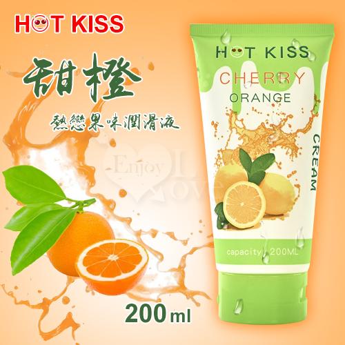 HOT KISS‧甜橙 熱戀果味潤滑液 200ml﹝可口交、陰交、按摩...﹞