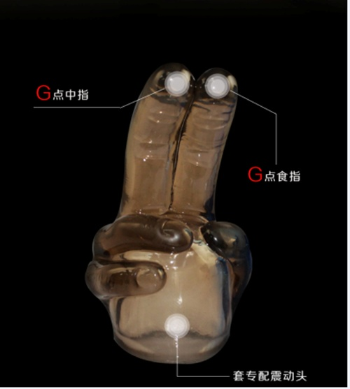 雙指萬能~AV棒專用配件【大雙指】藍