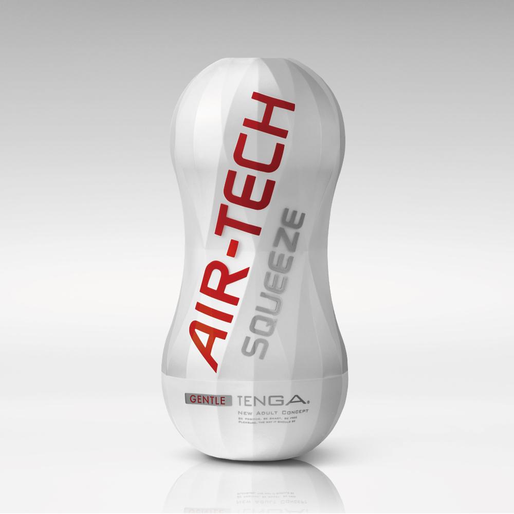 日本TENGA自慰器AIR-TECH Squeeze Gentle軟殼增壓重覆使用飛機杯(柔軟白)成...