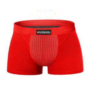 天然深海磁石托瑪琳 男性能量內褲 紅XL♥