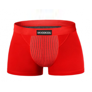 天然深海磁石托瑪琳 男性能量內褲 紅2XL♥