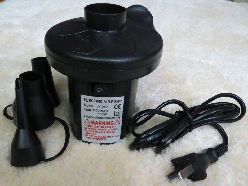 電動打氣機 (充、放)兩用(真空收納袋/真空壓縮袋/充氣床/船)♥