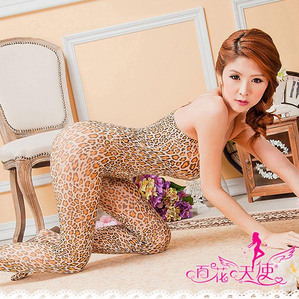 薄透系列-熱戀.豹紋連身貓裝
