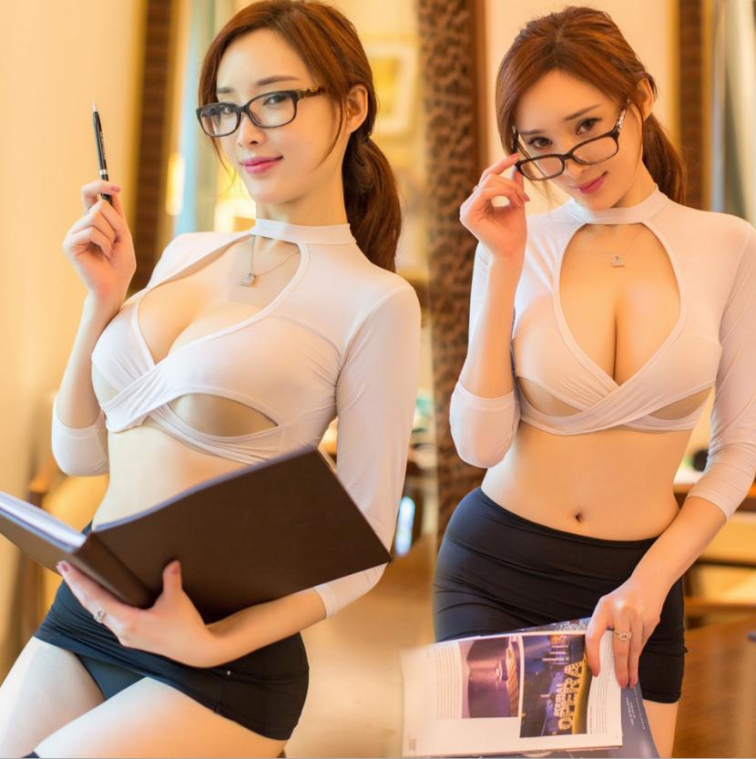歐美誘惑秘書角色扮演OL♥