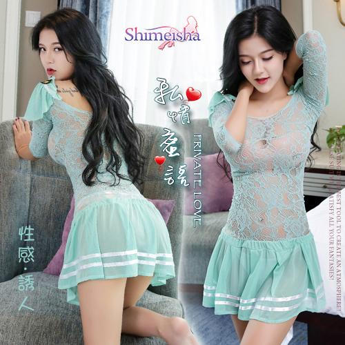 《SHIMEISHA》私情蜜語!小蓋袖誘人透視裙裝造型網衣 學生♥