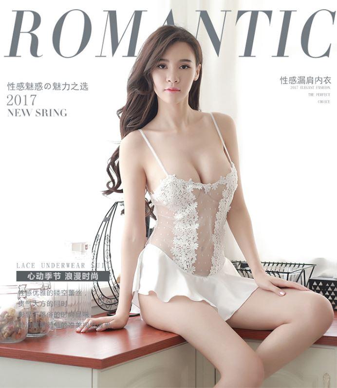 公主裙波浪連身衣(白)♥