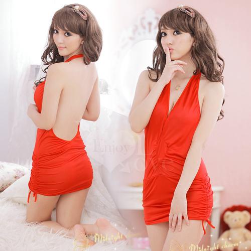 《Enjoy Love》搶眼之星!綁脖式連體夜店服(紅)