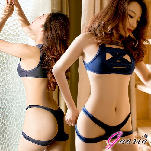 【Gaoria】綑綁系 兩截式 露半球緊縛死庫水 情趣泳衣♥