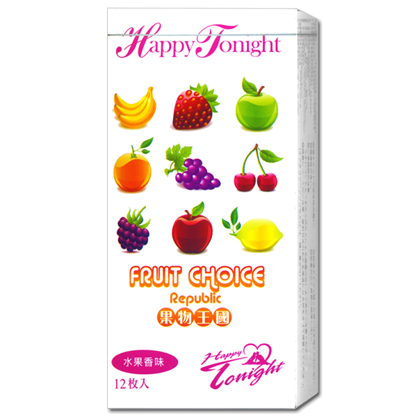 果物王國衛生套(六種水果香味)