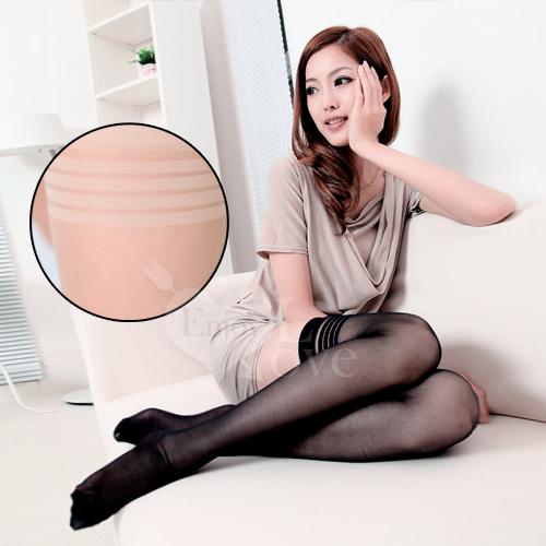fashion 超彈性透明性感長筒絲襪﹝膚色款﹞♥
