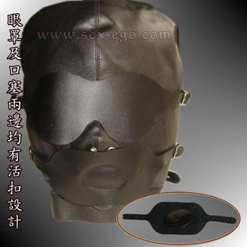 SM 頭套+口塞+眼罩