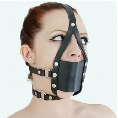 SM 馬具型口罩口塞 (黑)