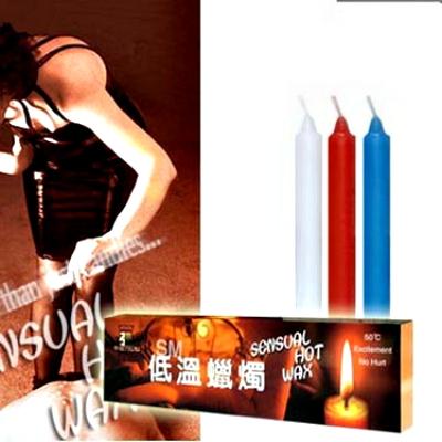 帝臣*高級低溫蠟燭(三支裝細長型)♥