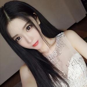 成人娃娃裝扮假髮 ‧ 中分長直假髮 / 黑色♡