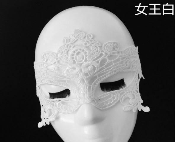 蕾絲眼罩‧舞台表演情人誘惑狐媚裝扮 白♥
