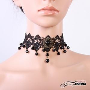性感配件!歐美復古黑色蕾絲 頸圈頸鍊頸環 項鍊鎖骨鍊 聖誕節萬聖節配飾♥