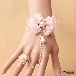 性感配件!波西米亞風格韓版粉色手鍊 聖誕節萬聖節配飾♥
