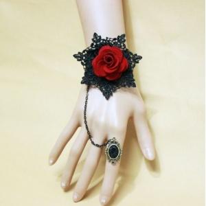 性感配件!歐美復古紅色花朵手鍊 聖誕節萬聖節配飾♥