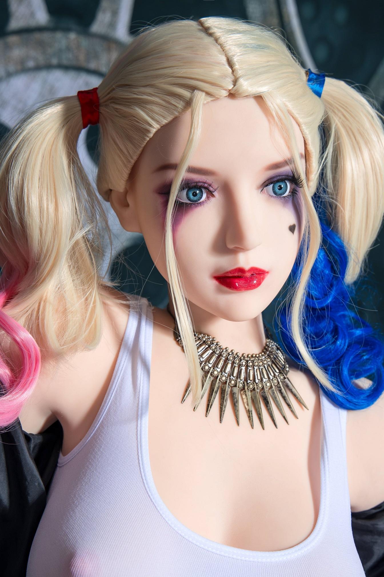 真人版娃娃頭《小丑女》﹝可安裝140~168cm 身體﹞♥