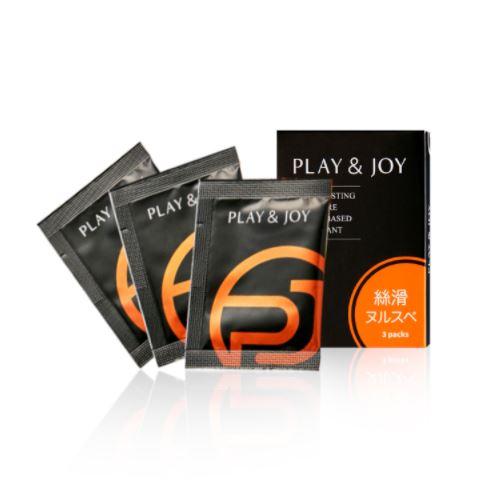 台灣製造 Play&Joy狂潮‧絲滑基本型潤滑液隨身盒絲滑(3包)