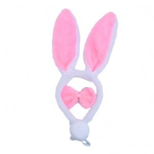 兔女郎髮箍(白+粉耳+粉啾)-3件♥