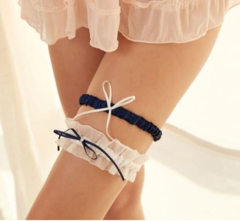 海軍風蝴蝶結腿圈 腿環♥